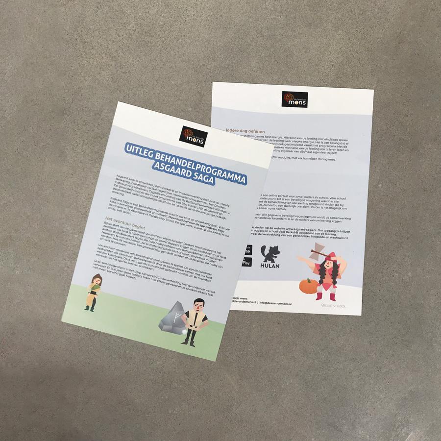 Asgaard Saga - De Lerende Mens - Folders Ouders & School