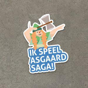Asgaard Saga De lerende mens - Sticker Ik Speel Asgaard Saga